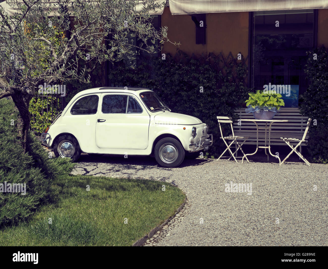 Fiat Kaiserslautern Parked Outside A House Stock Photos Parked Outside A House Stock