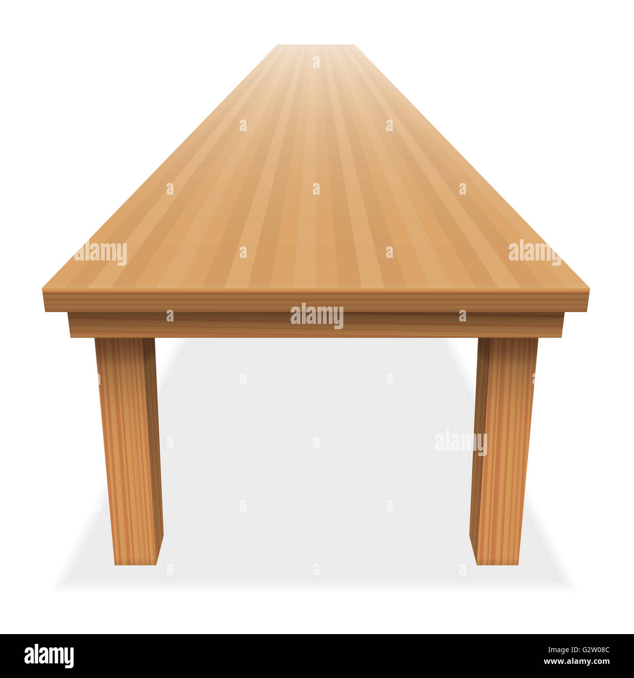 Long Wood Desk Very Long Empty Wood Table For Festive Banquet Or The Like Stock