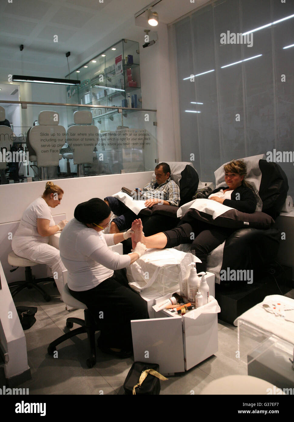 Pedicure Salon Israel Tel Aviv Beauty Salon Pedicure Treatments Stock Photo