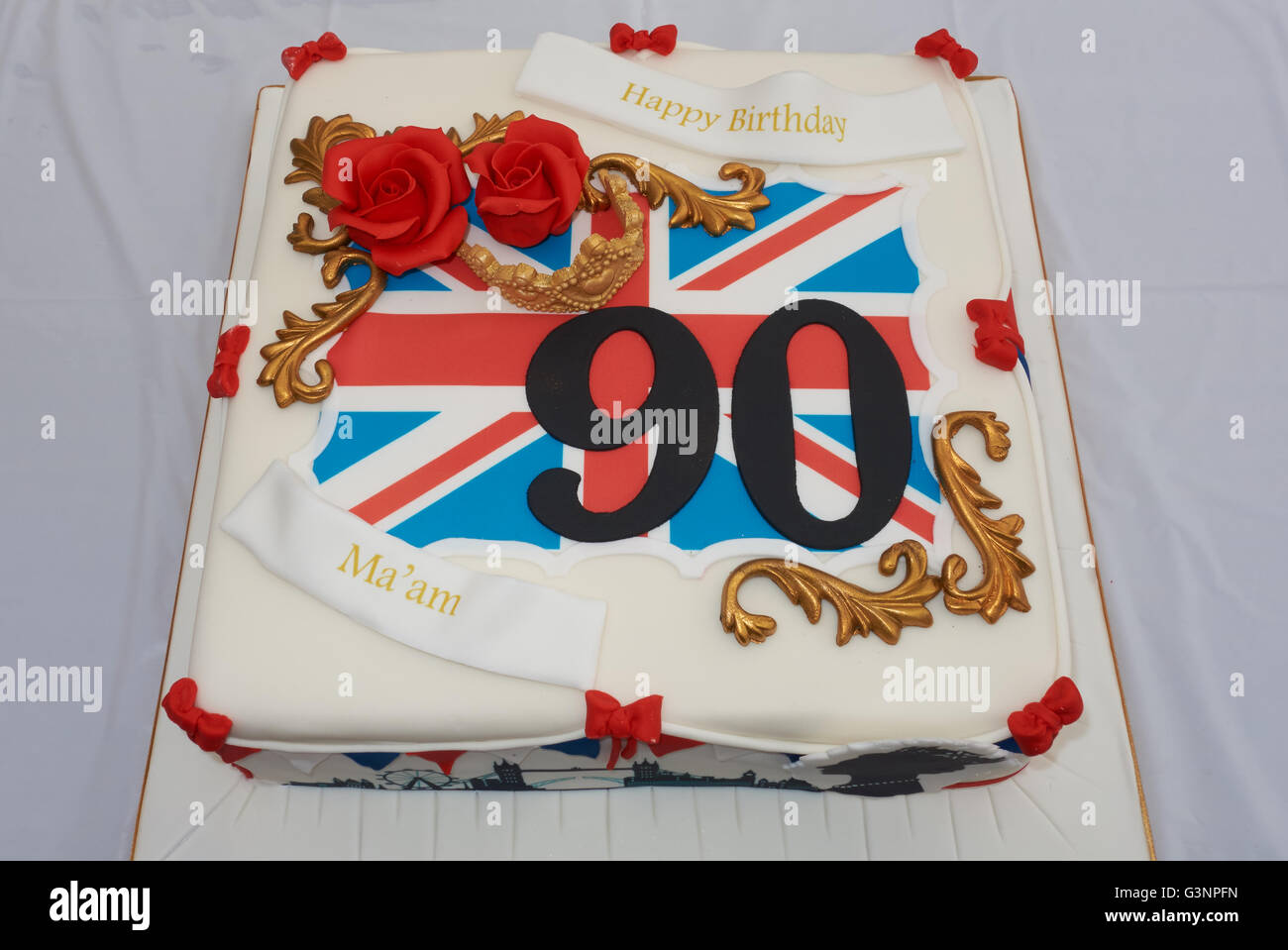 90th Birthday Cake Stock Photos And