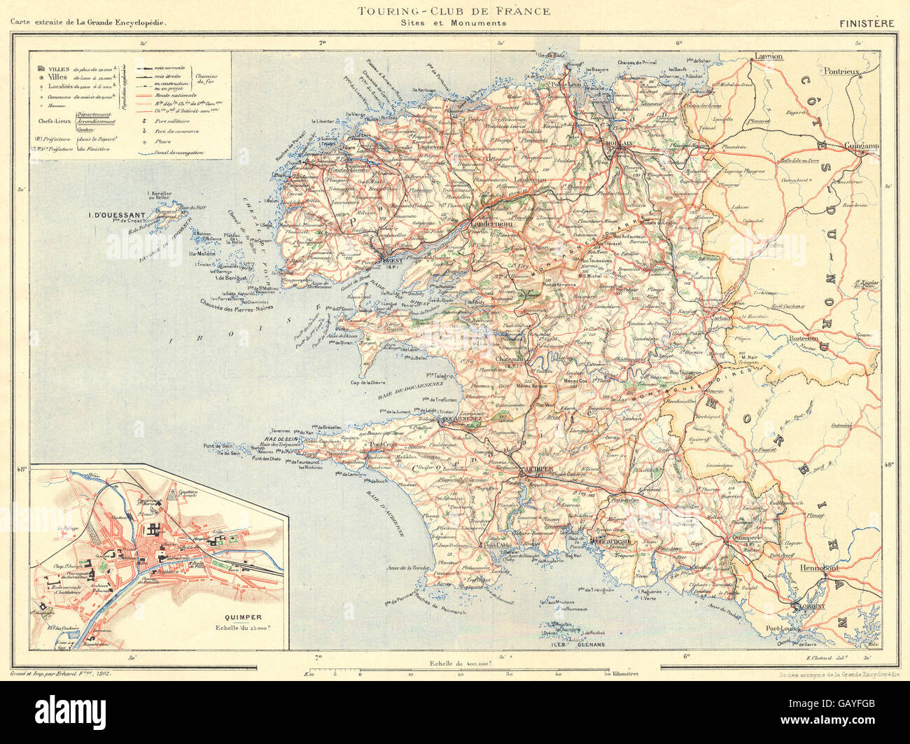 Cornouaille Chaises Finistere Map Stock Photos Finistere Map Stock Images Alamy