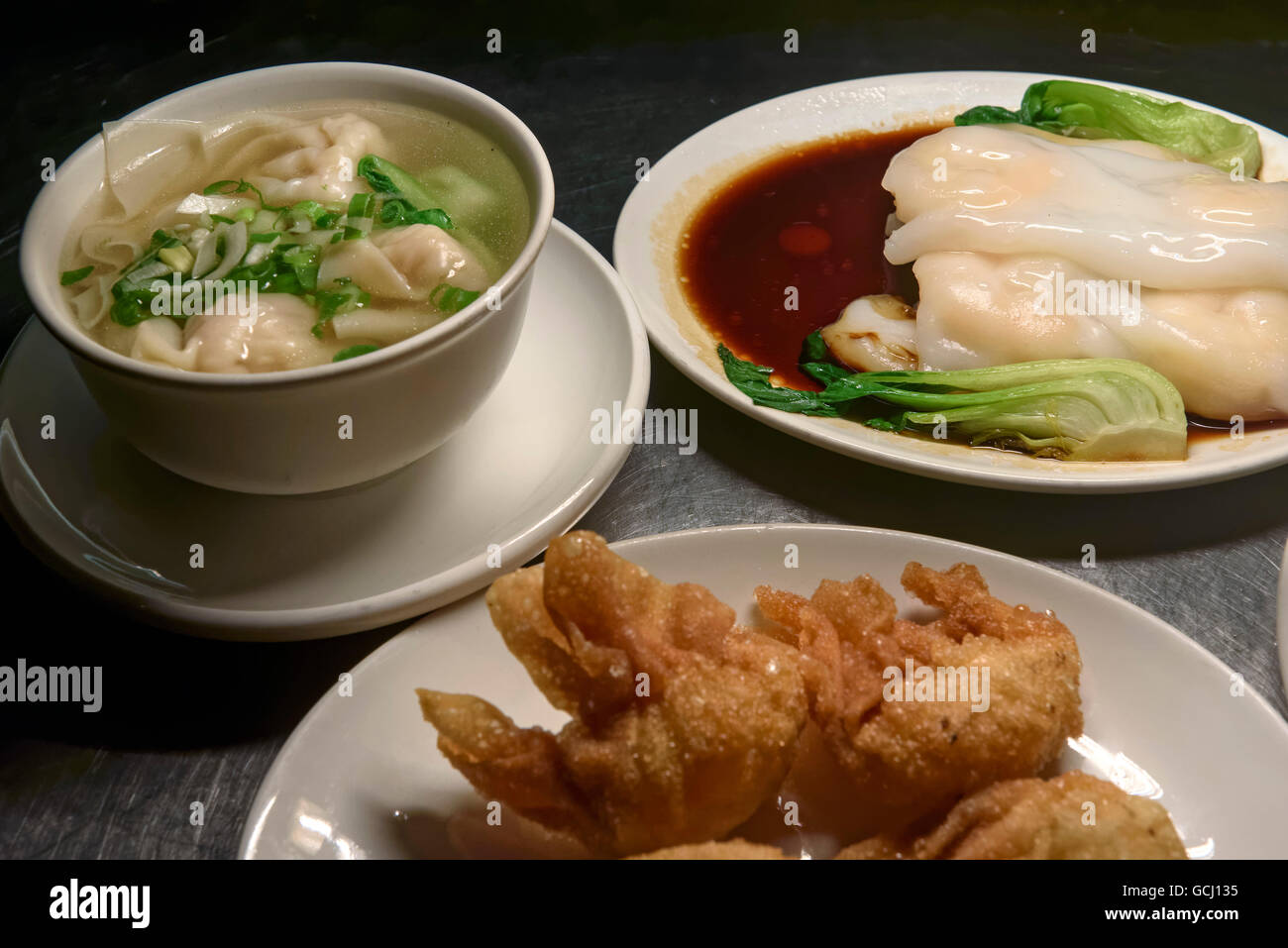 Asia Haus Hamburg Dim Sum Starter And Wan Tan Soup In Restaurant Dim Sum Haus Stock