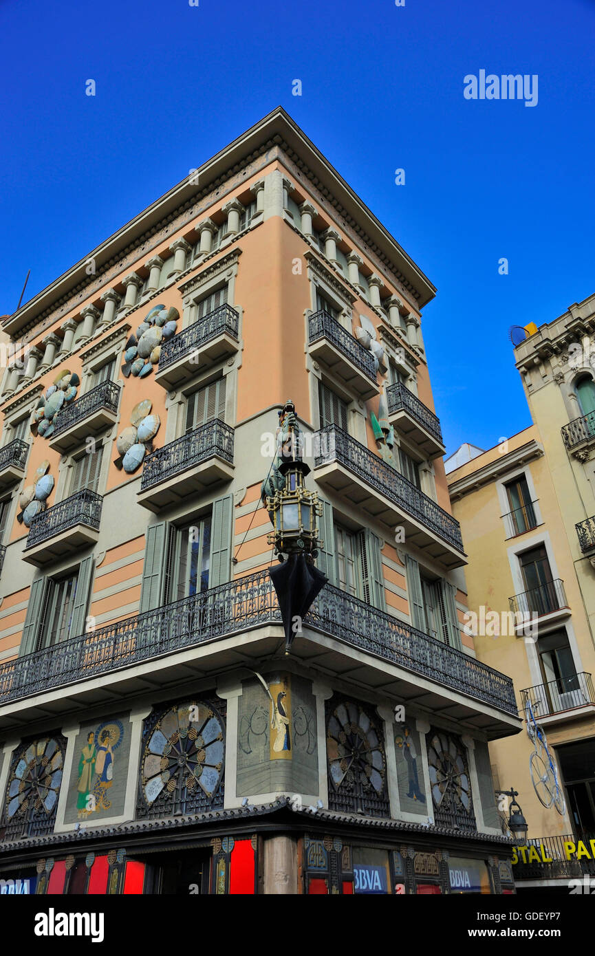 Casa Bruno Modernisme Casa Bruno Cuadros Barcelona Catalonia Spain Stock