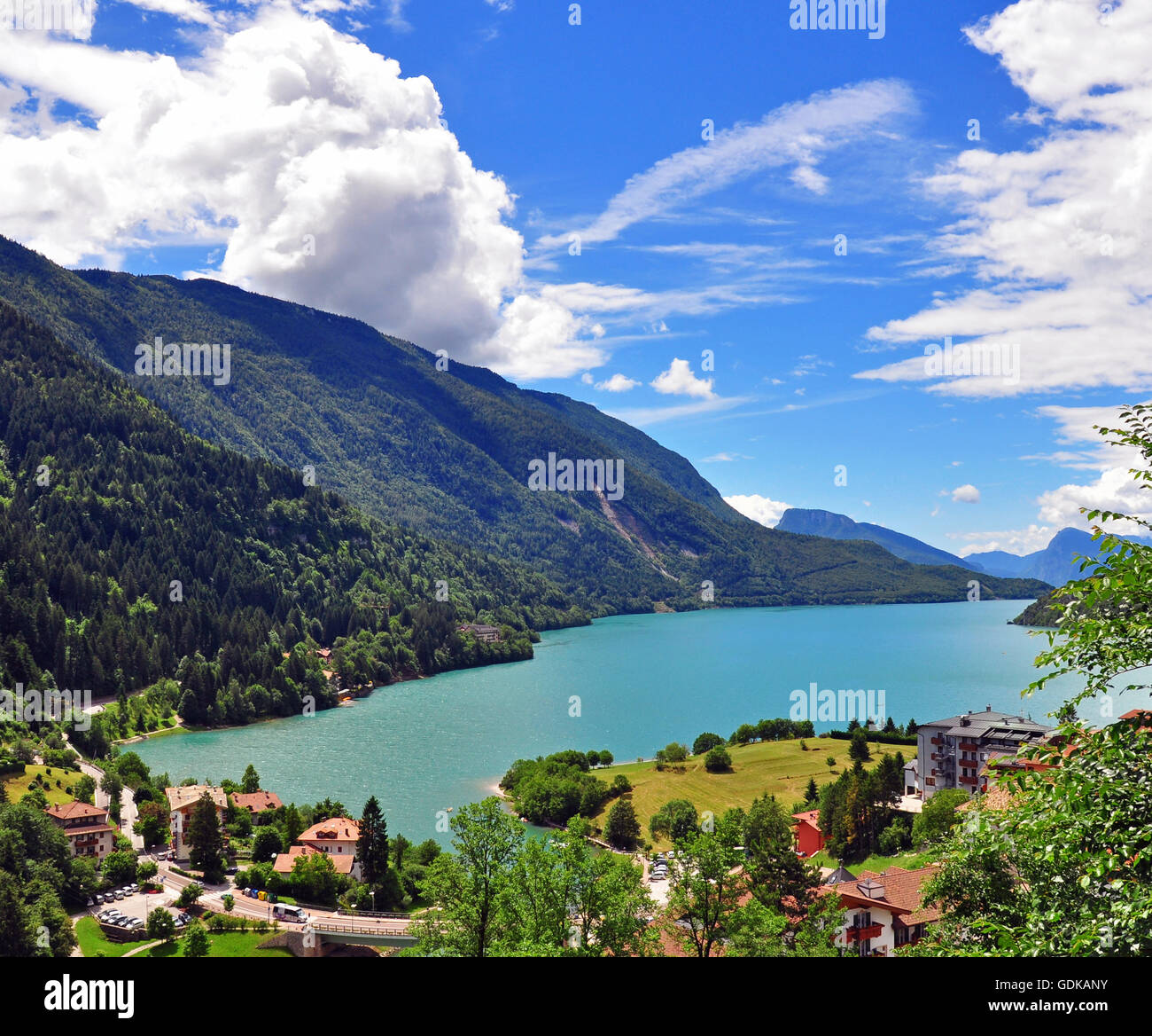 Molveno Camping Molveno Lake Italy Stock Photo 111678279 Alamy