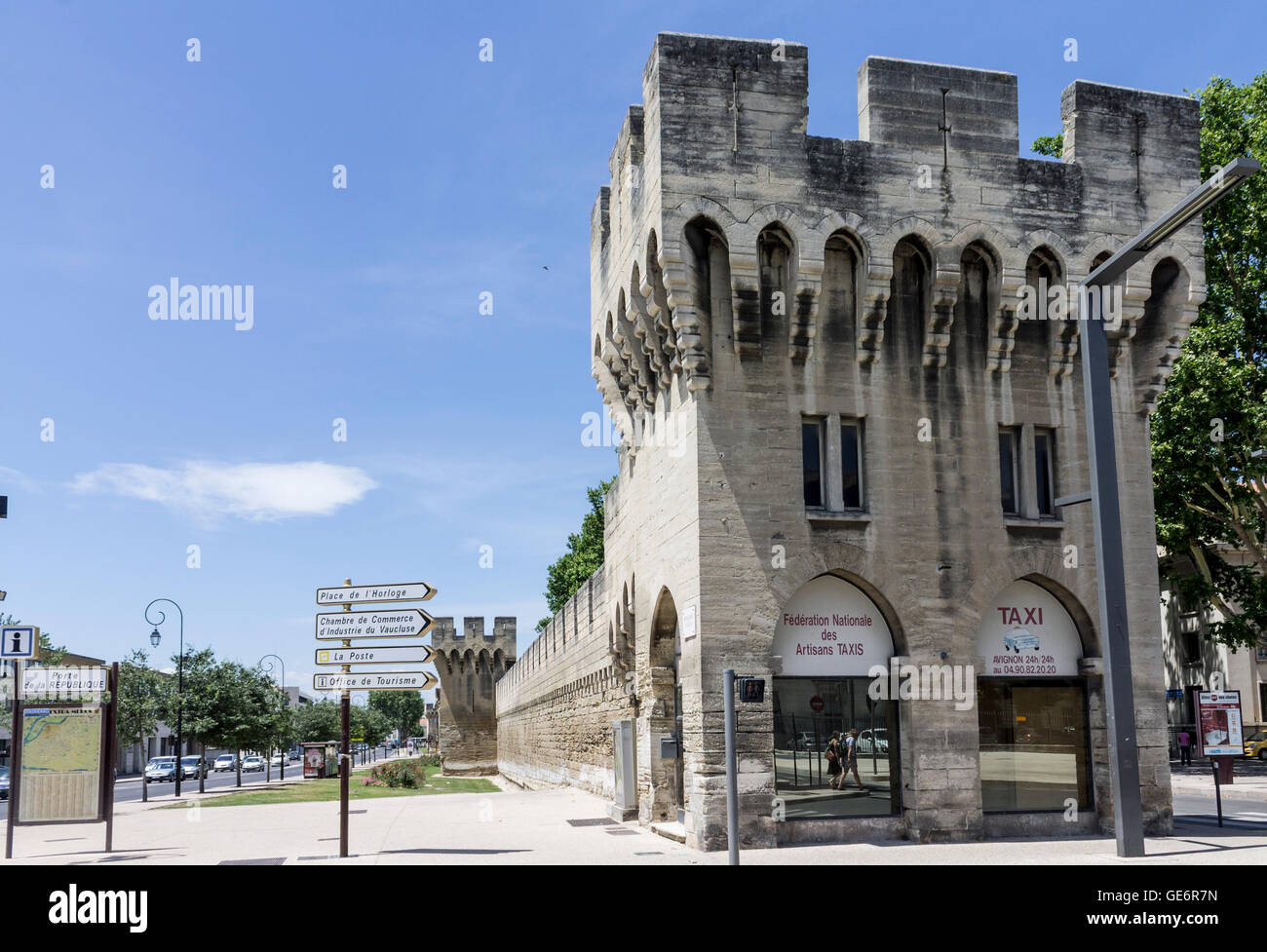 Chambre De Commerce Avignon Protection Walls Avignon Provence France Stock Photo 112017353
