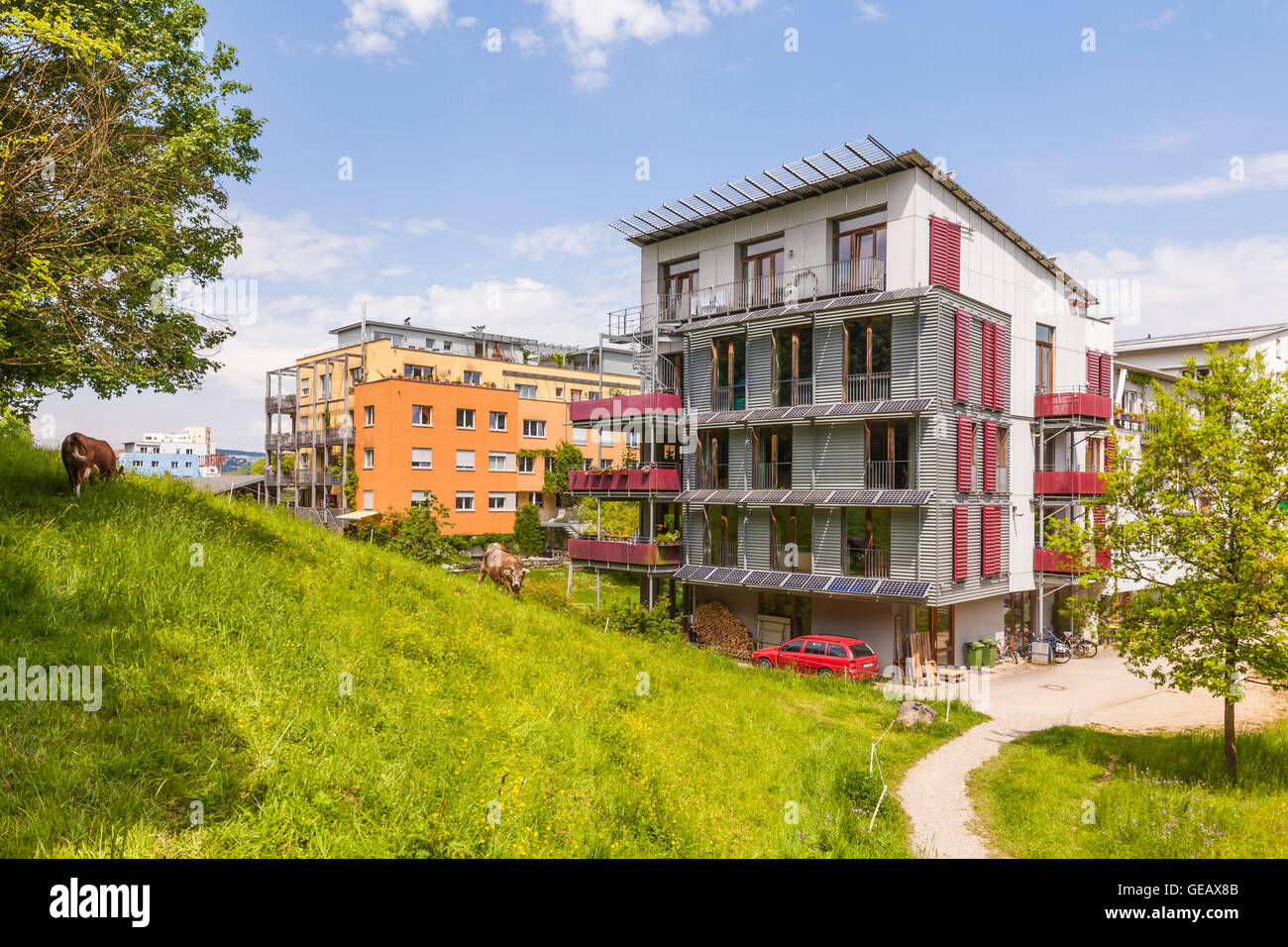 Real Tübingen Ecological Housing Stock Photos And Ecological Housing Stock
