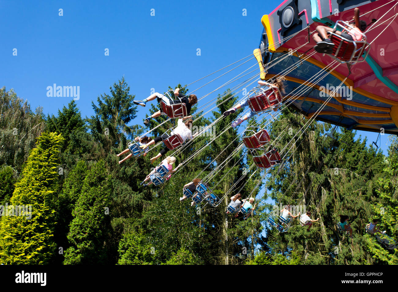 Tivoli Amusement Park Netherlands Theme Park Ride Stock Photos And Theme Park Ride Stock