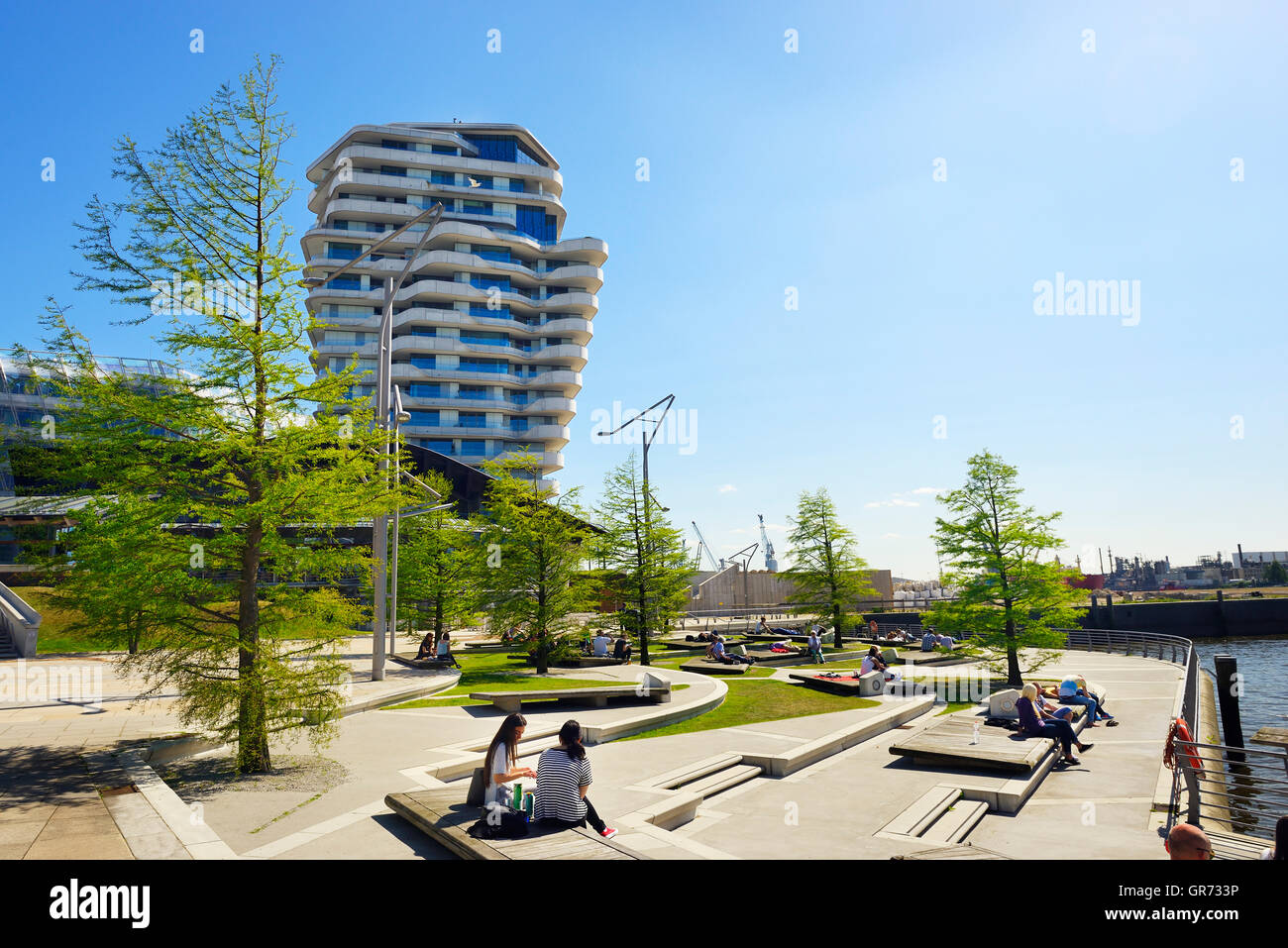 Marco Polo Tower Marco Polo Terraces And Marco Polo Tower In Hamburg, Germany Stock Photo - Alamy
