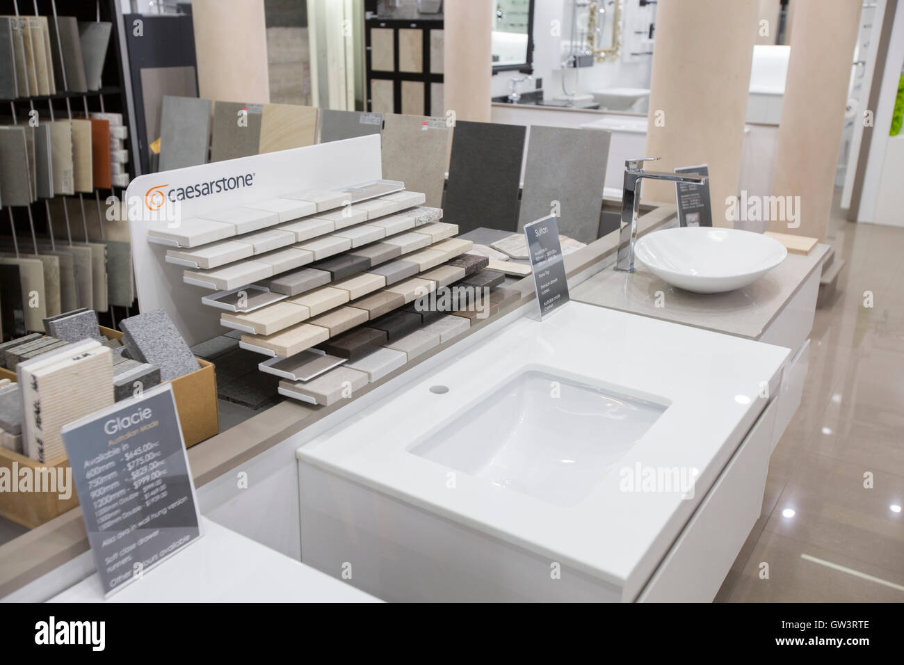 Bathroom Ware Bathroom Sanitary Ware Showroom Retailer Stock Photos