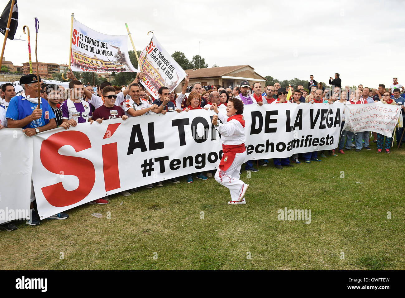 Toros Silla 2016 Tordesillas Spain 13th September 2016 Protests At The Toro De