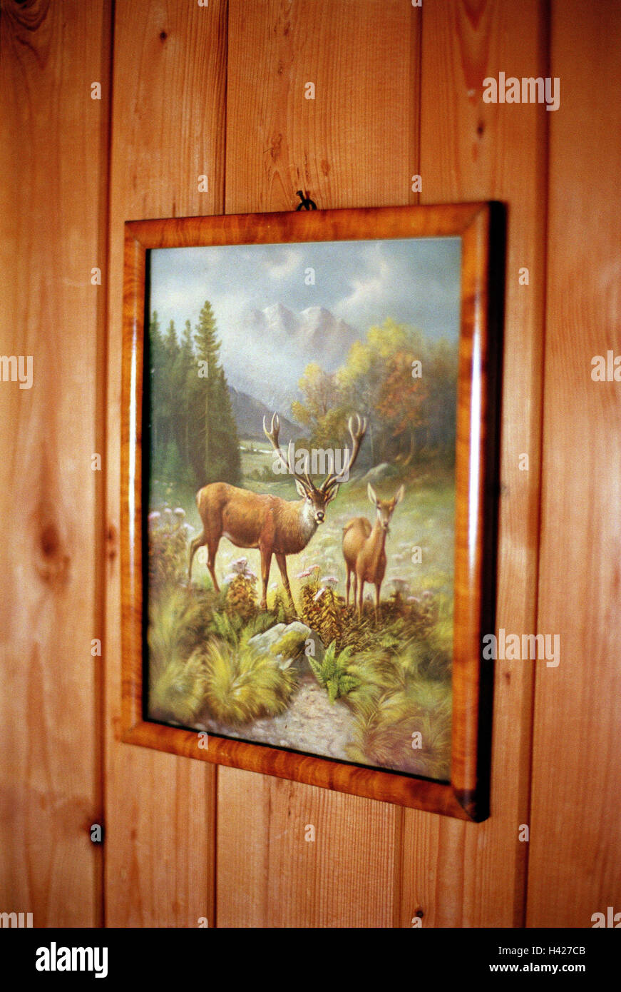 Holzvertäfelung Bilder Wooden Wall Picture Animal Motif Ski Hut Hut Accomodation