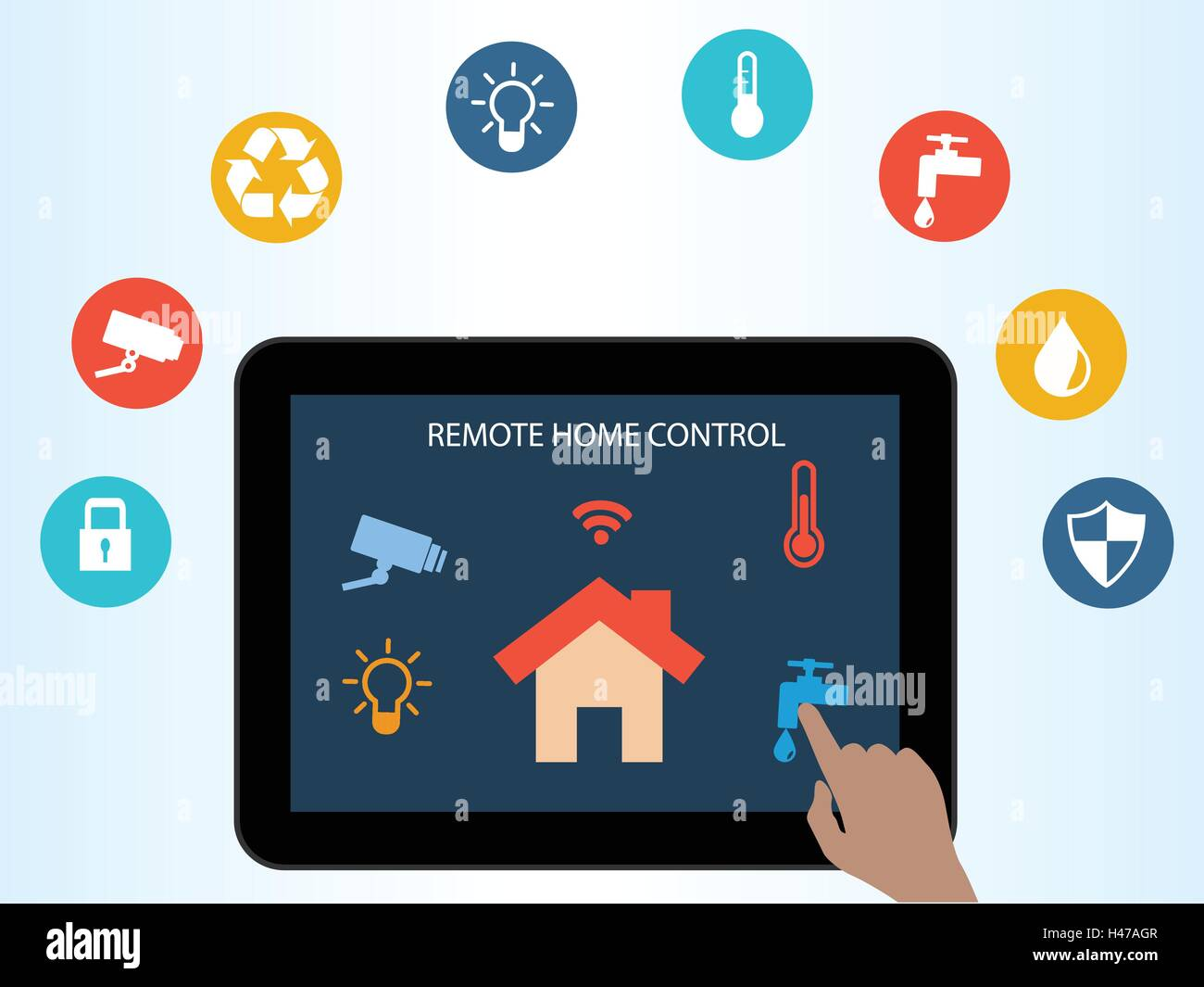 Online Home Concept Of Smart House Technology Remote Home Control Online Home