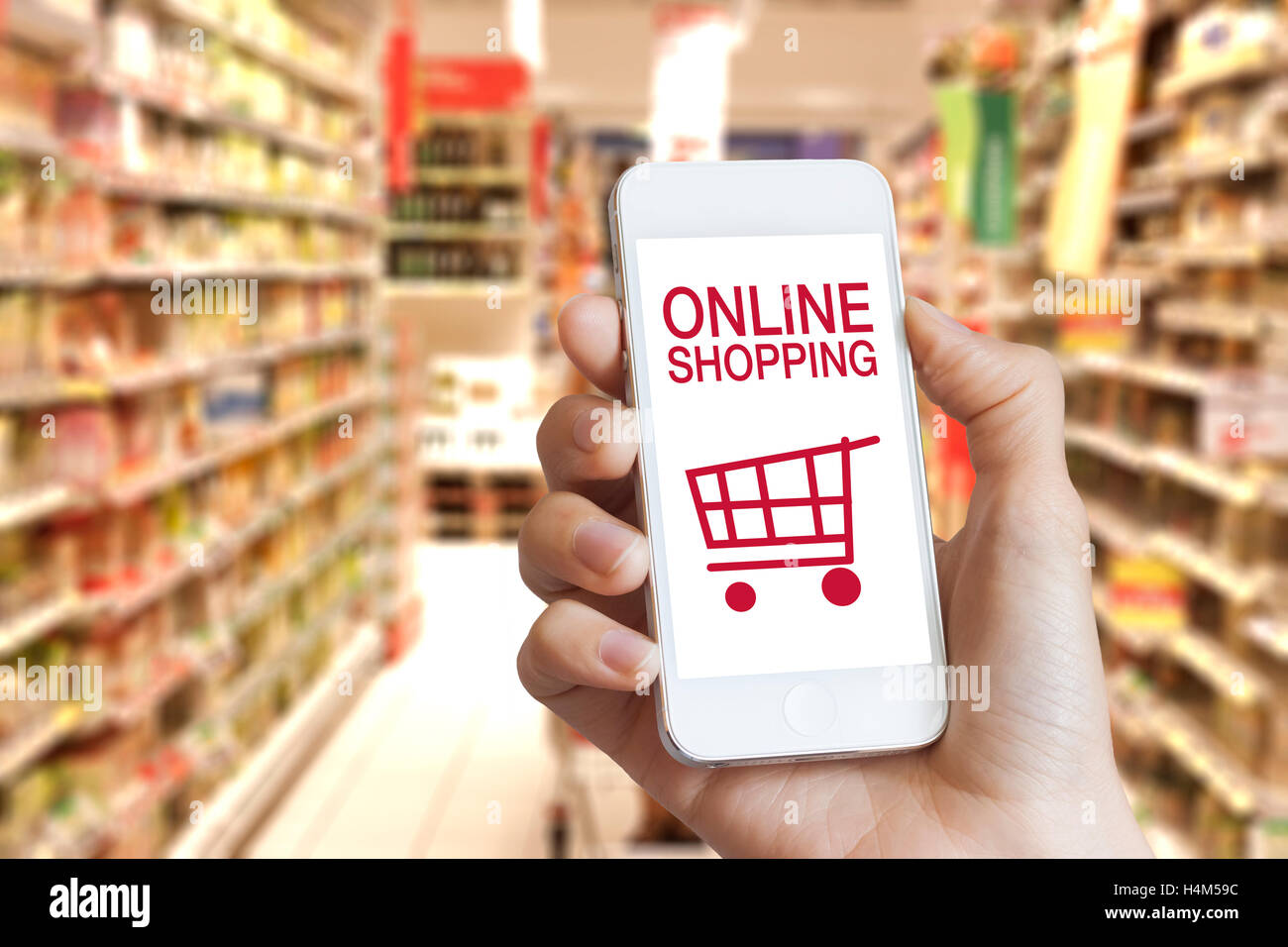 In Shop Online Store Online Shopping Application On Mobile Phone Screen With Grocery