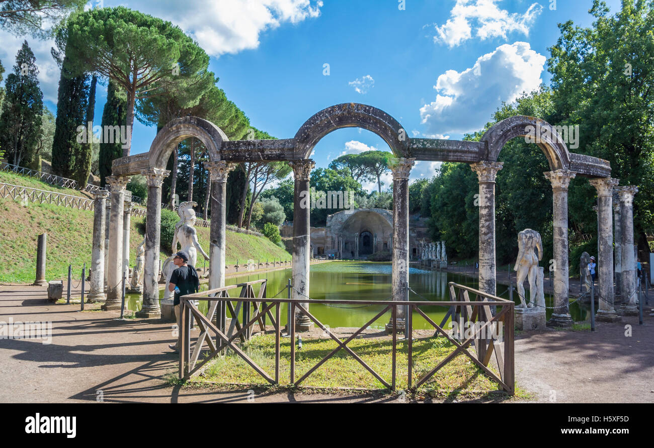 Tivoli Rome Weather Canopo Villa Adriana Tivoli Italy Stock Photo Royalty