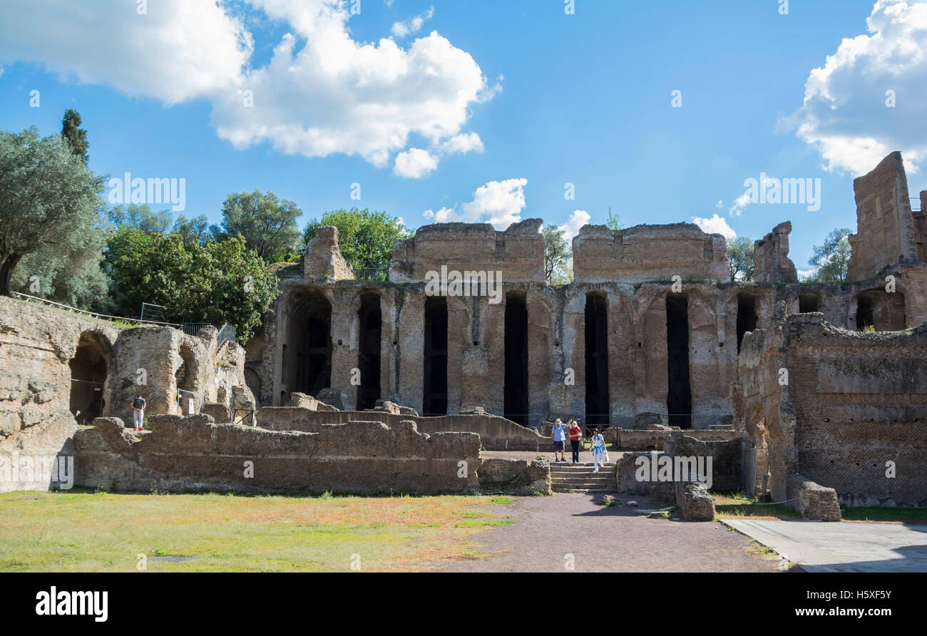 Tivoli Rome Weather Pretorio Villa Adriana Tivoli Italy Stock Photo 124128535