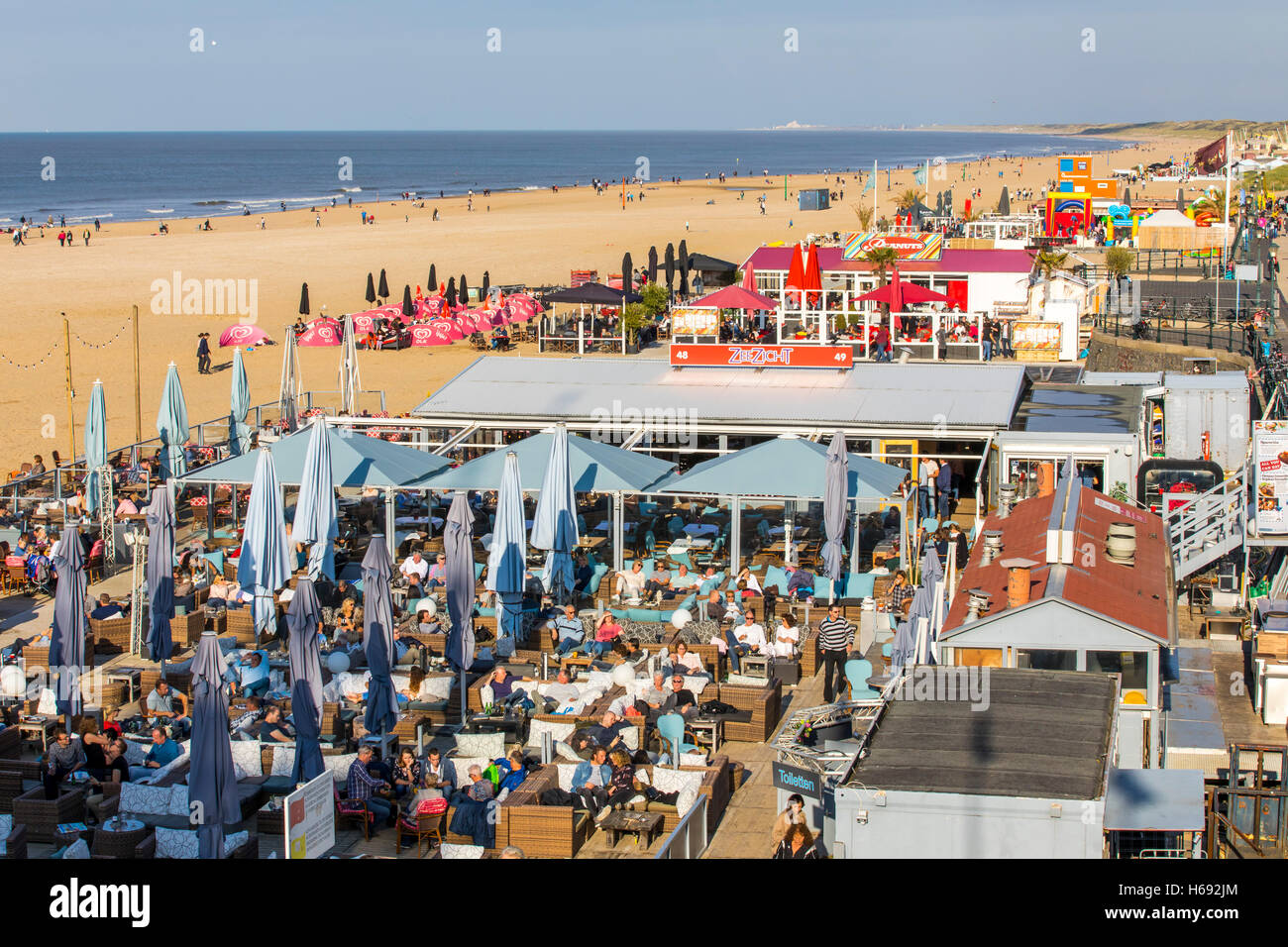 Scheveningen Beach Restaurants Scheveningen The Hague The Netherlands Beach Bars And