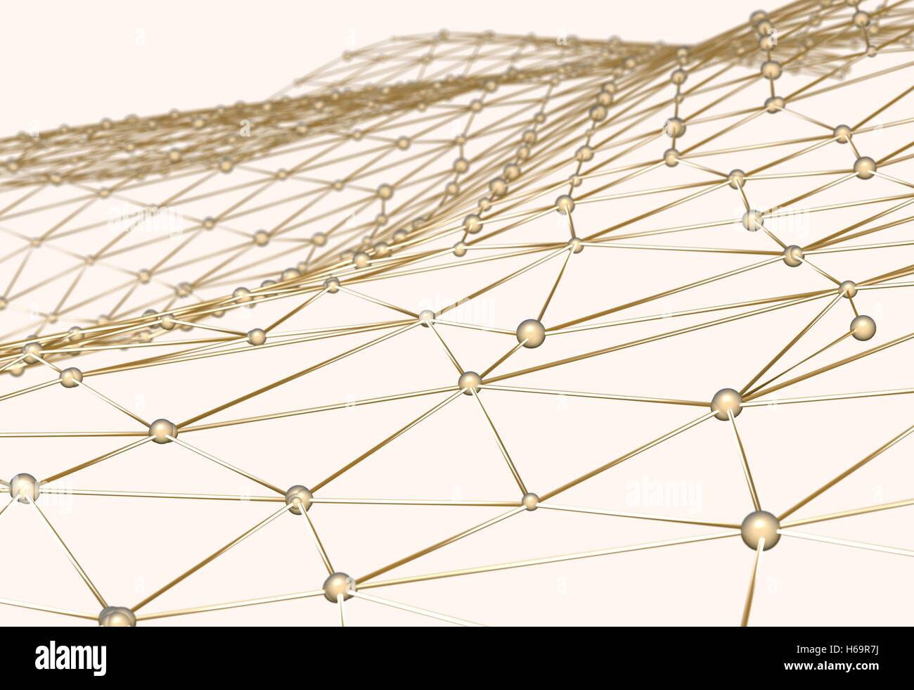 3d Net Abstract Background Of Links And Connections Net Nodes Isolated 3d