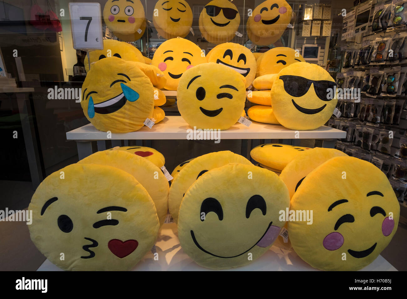 Cushions For Sale Emoji Cushions For Sale Stock Photo 124783950 Alamy
