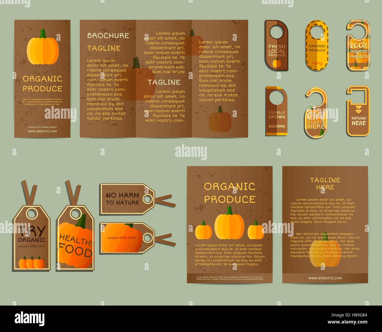 Corporate Graphic Design Natural Business Corporate Identity Design With Pumpkin Branding