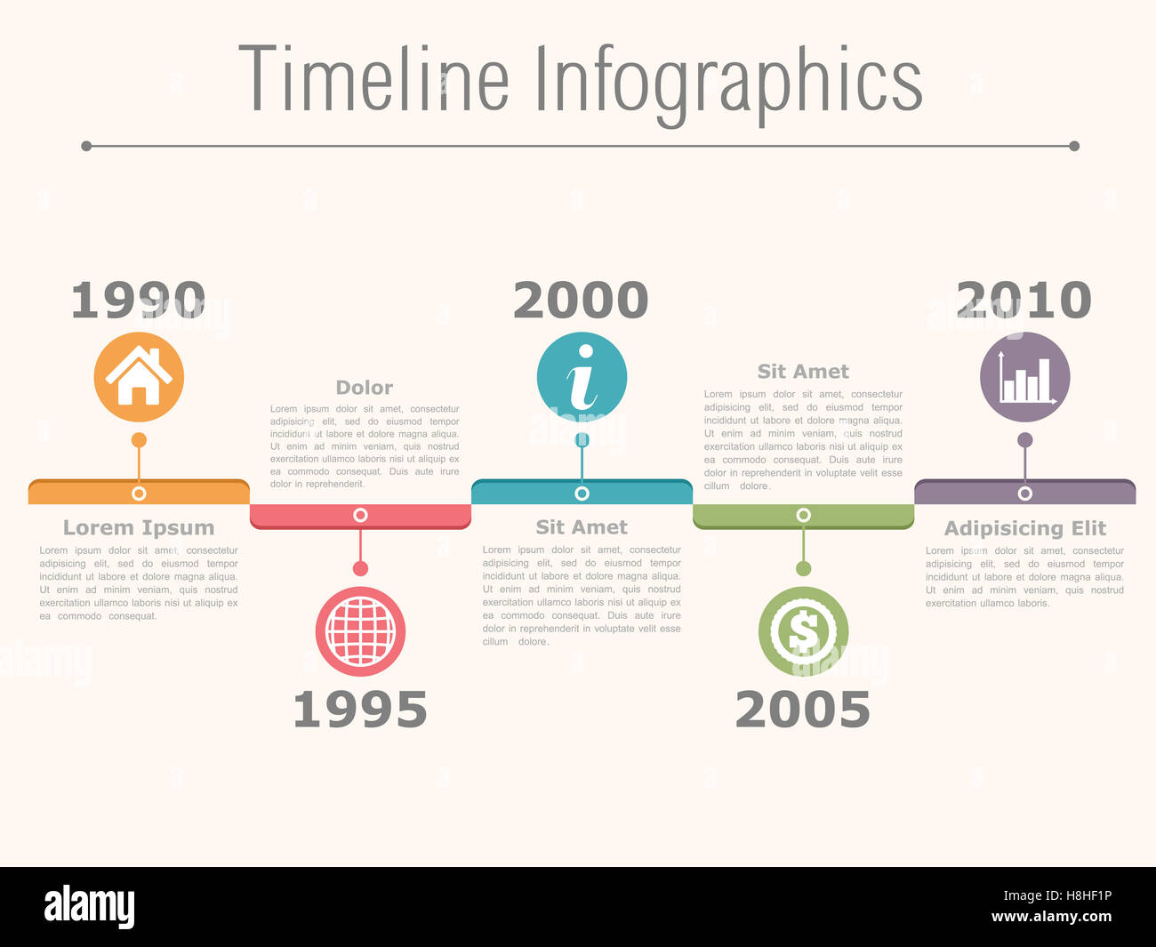 Timeline Design Timeline Infographics Design Template With Dates Icons And Text