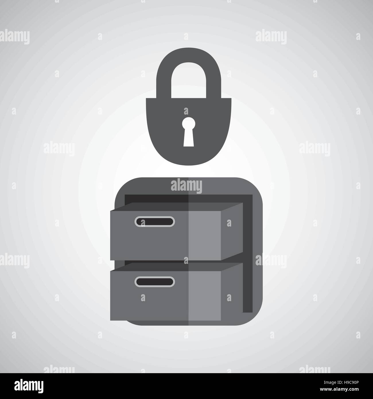 Filing Cabinet Icon Flat Security File Cabinet Icon Design Vector Illustration Eps 10 Stock