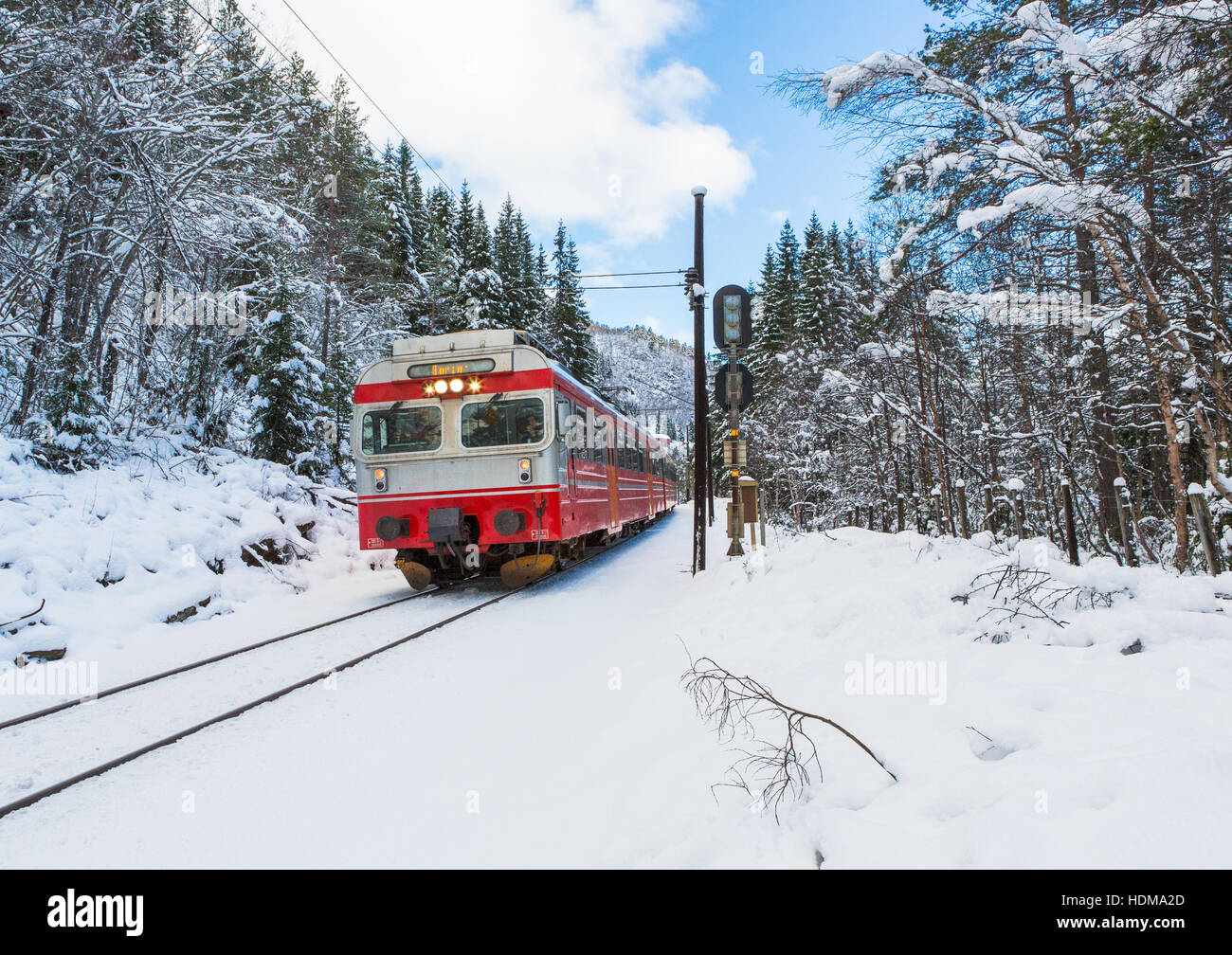 Norway Train Train Oslo Bergen In Mountains Norway Stock Photo 128910053