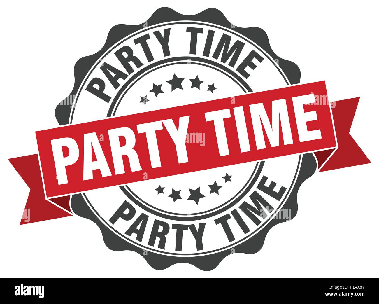 Party Time Party Time Stamp Sign Seal Stock Vector Art Illustration