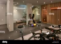 Residential building, London, UK. Interior view. Basement ...