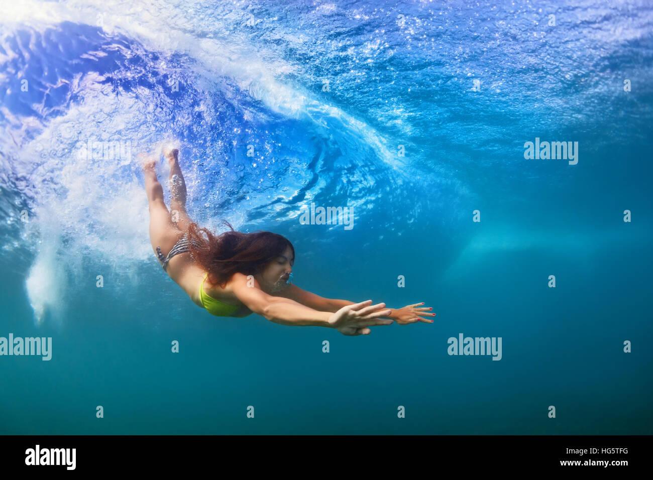 Surfer Girl Bali Wallpaper Young Sportive Girl In Bikini In Action Fit Woman Swim