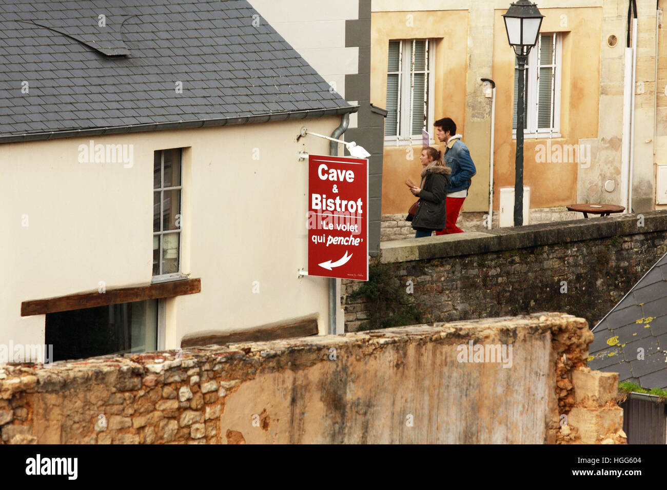 Store Banne Qui Penche France Sign Side Building Stock Photos France Sign Side Building