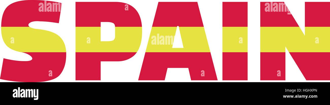 Spanish flag word Stock Photo 130701277 - Alamy - word flag
