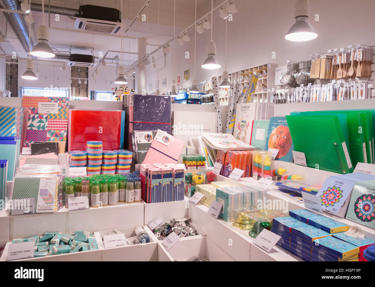 Flying Tiger Shop Flying Tiger Copenhagen Store In Spain Stock Photo