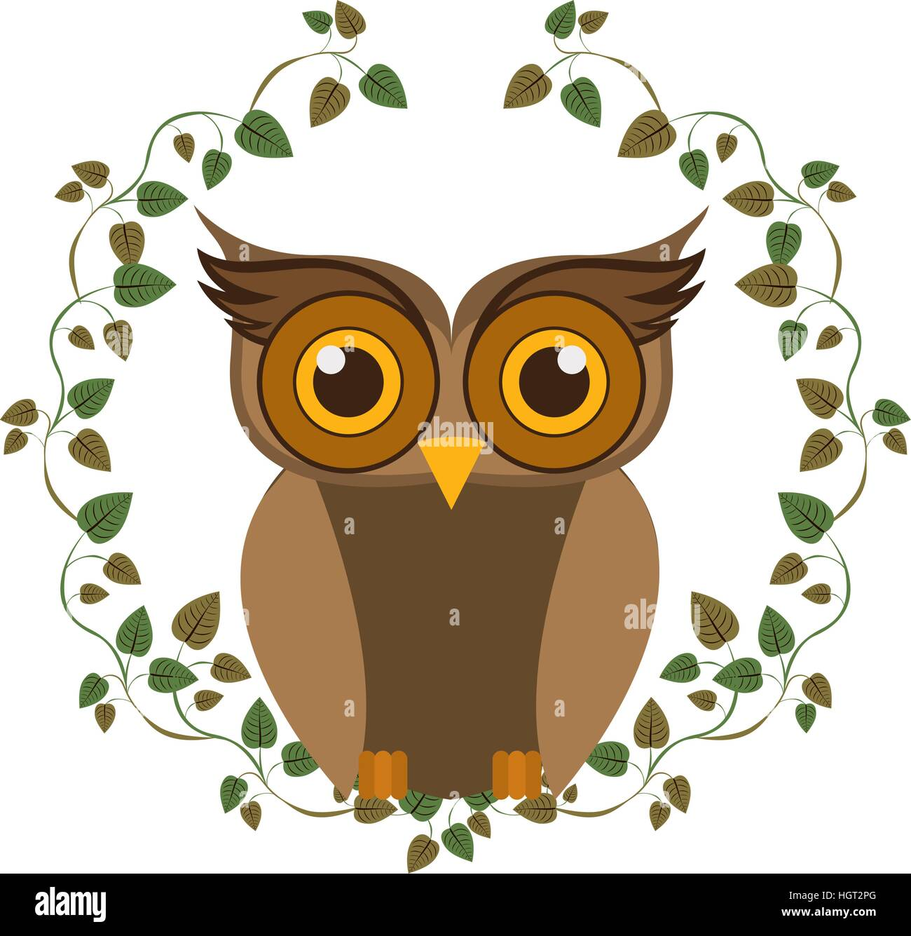 Animal Design Owl Cartoon Icon Bird Animal And Nature Theme Isolated Design