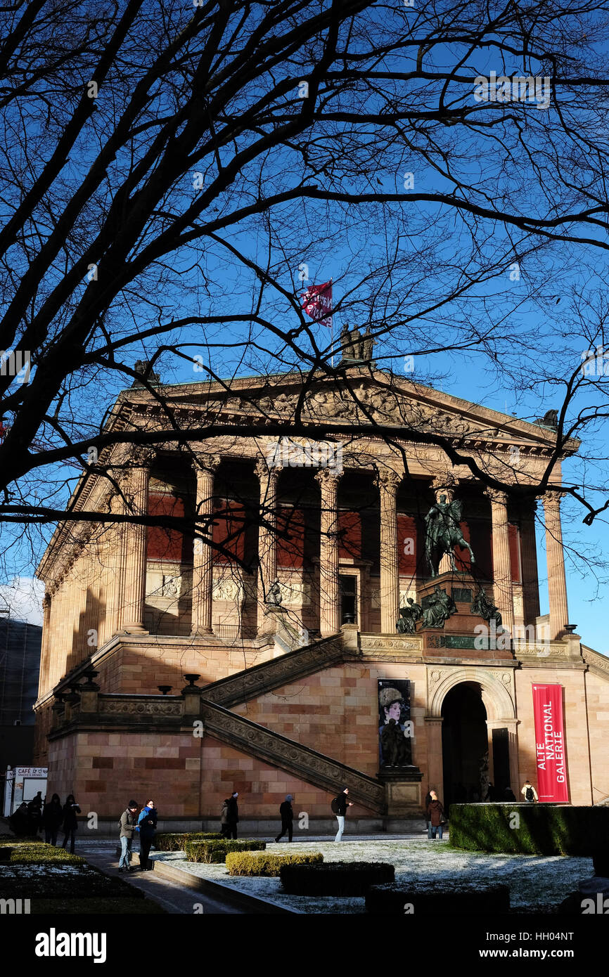 Wss Berlin Berlin Germany 5th Jan 2017 View Of The Alte Nationalgalerie