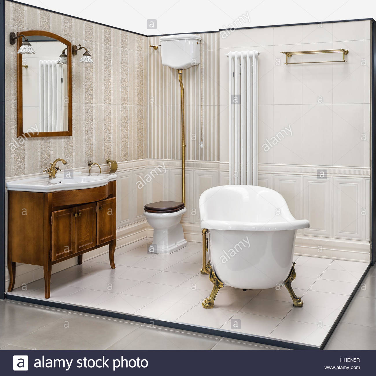 Retro Bathroom High Resolution Stock Photography And Images Alamy