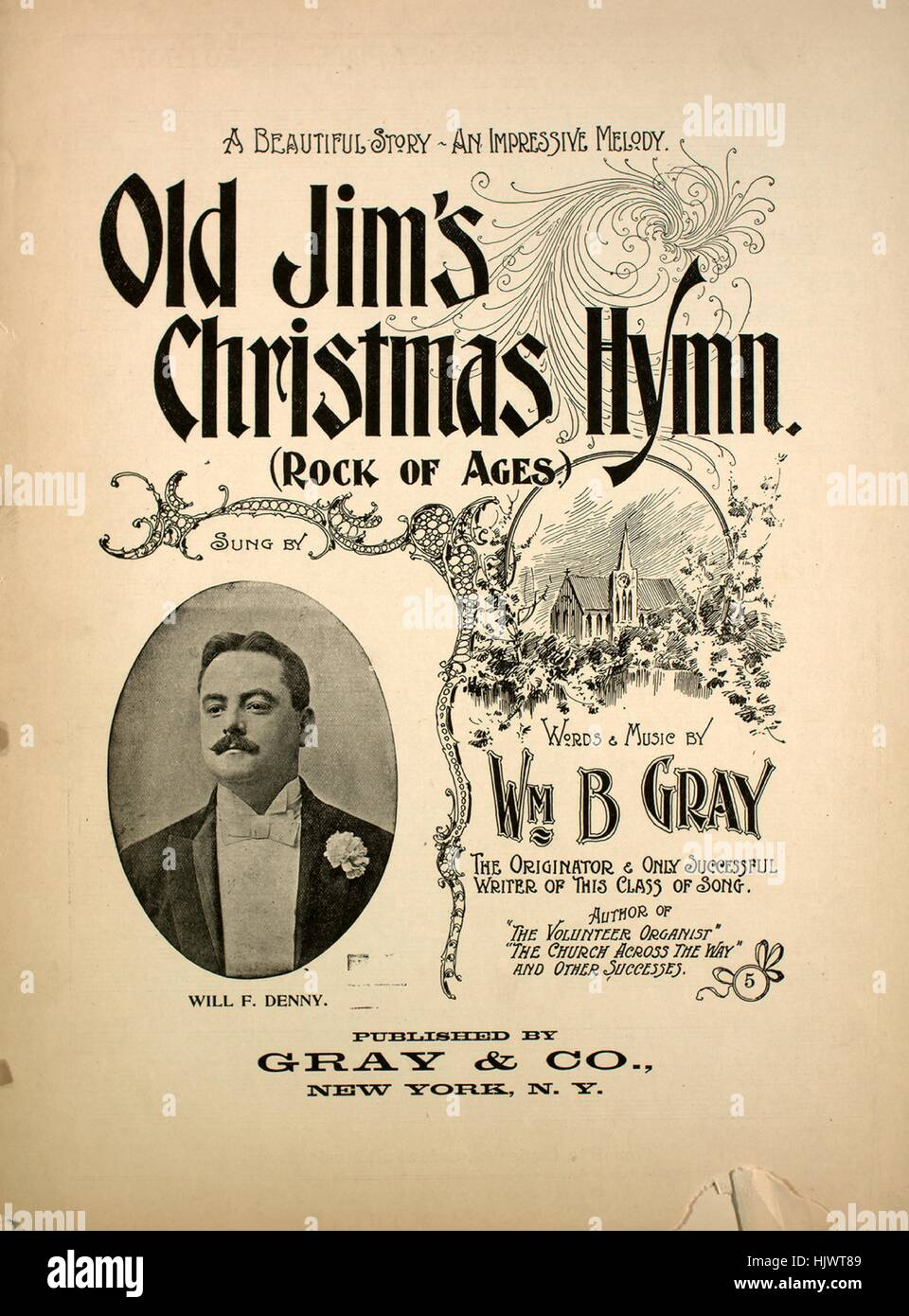 Rock Music Cover Sheet Music Cover Image Of The Song Old Jim S Christmas Hymn Rock