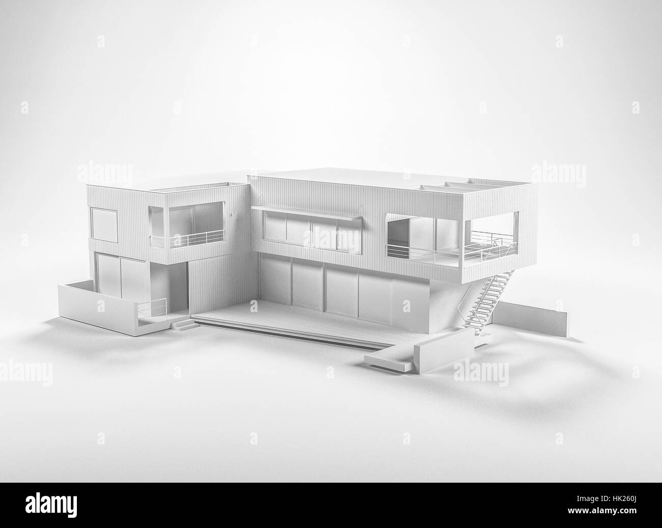 3d Modeling Rendering And Animation Architecture Background Concept With Grey Building 3d Model