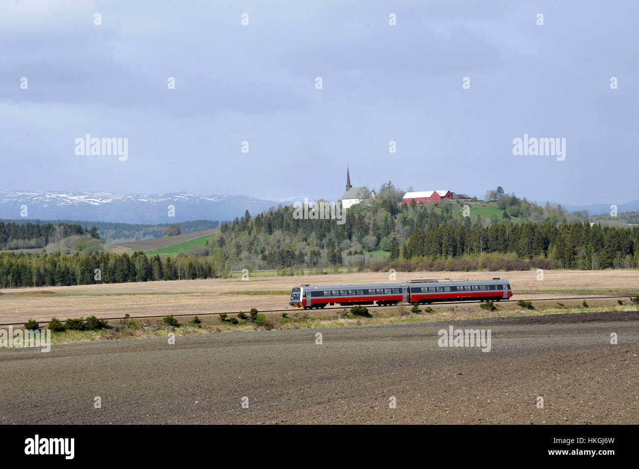 Norway Train Norway Train Near Rora Stock Photo 132516577 Alamy