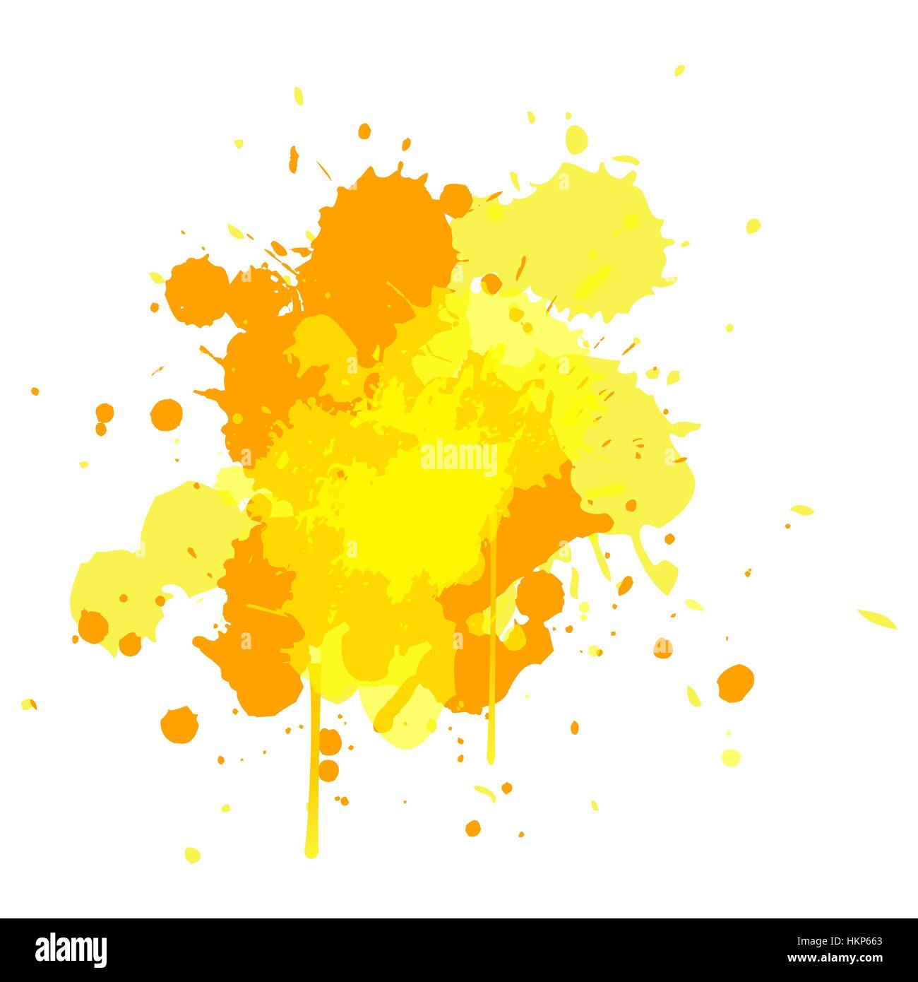 Colored Water Brush Yellow Tone Water Color Design For Brush Element Background With