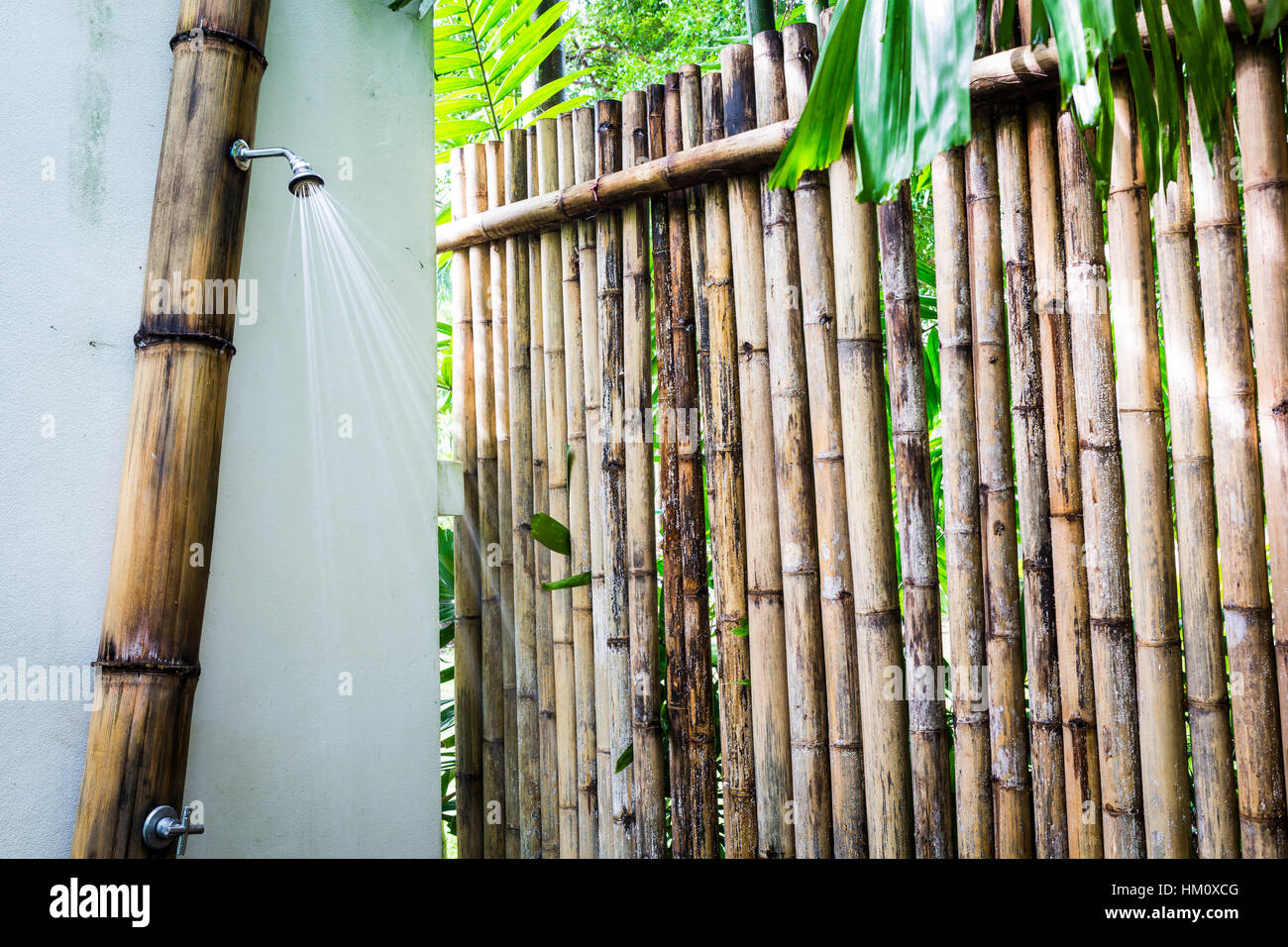 Bamboo Outdoor Shower Enclosures Bamboo Walls Stock Photos And Bamboo Walls Stock Images Alamy