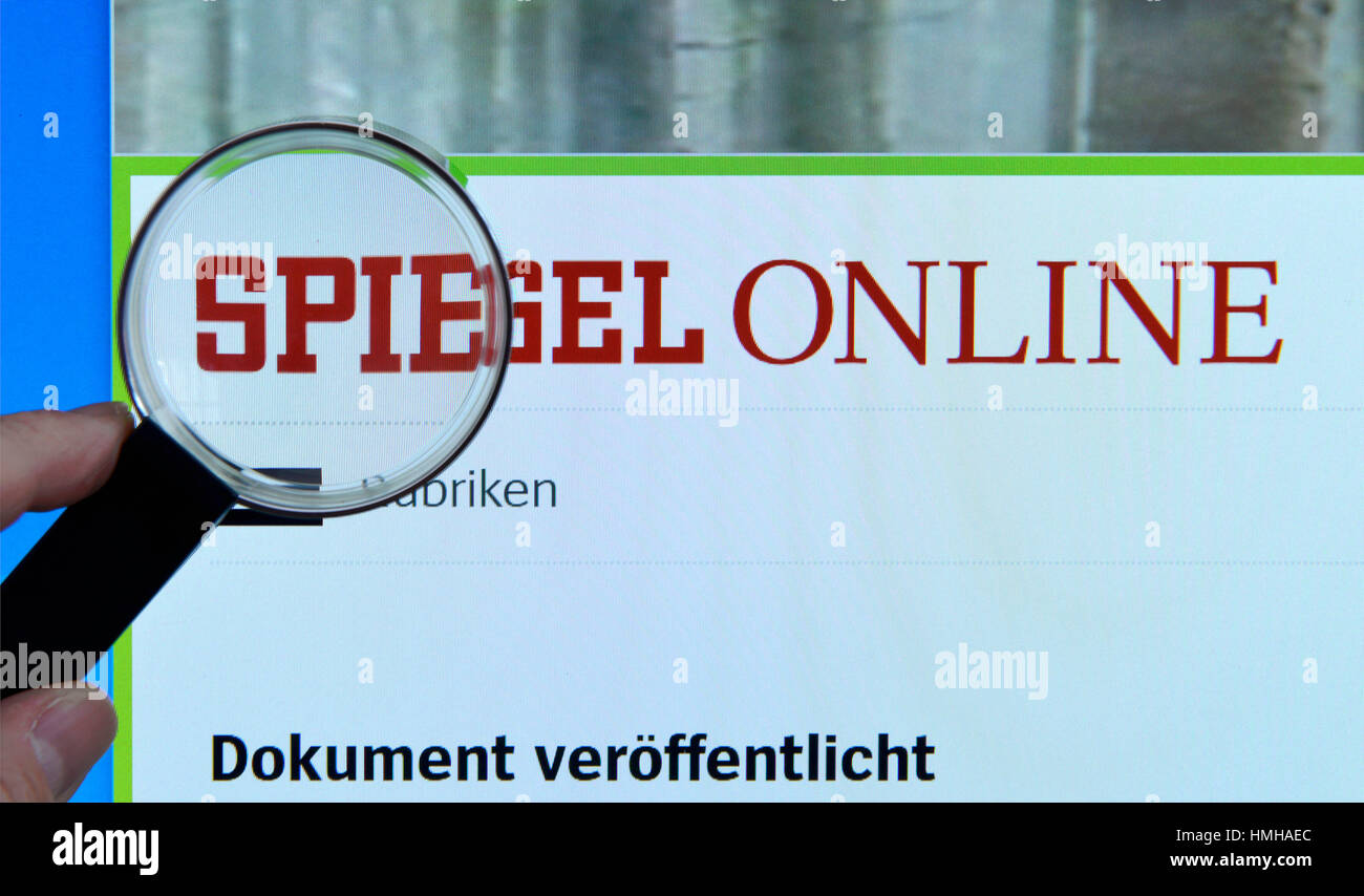 Spiehel Online Mirror Online Website Internet Screen Magnifying Glass