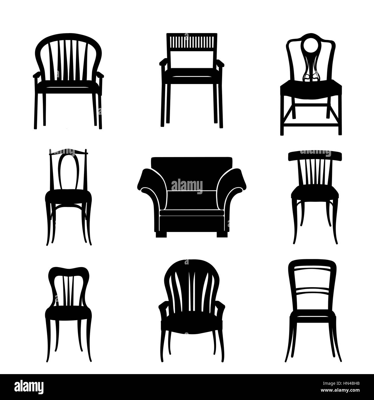 Sessel Vektor Sitting Chair Stock Vector Images Alamy
