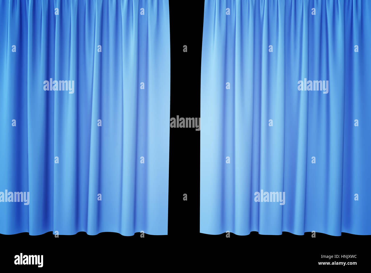 Black And Blue Curtains Open Blue Silk Curtains For Theater And Cinema With A Black Stock