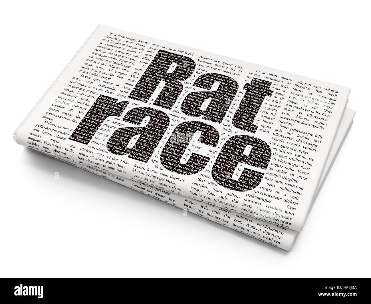 Ra T Vel Politics Concept Pixelated Black Text Rat Race On Newspaper Stock