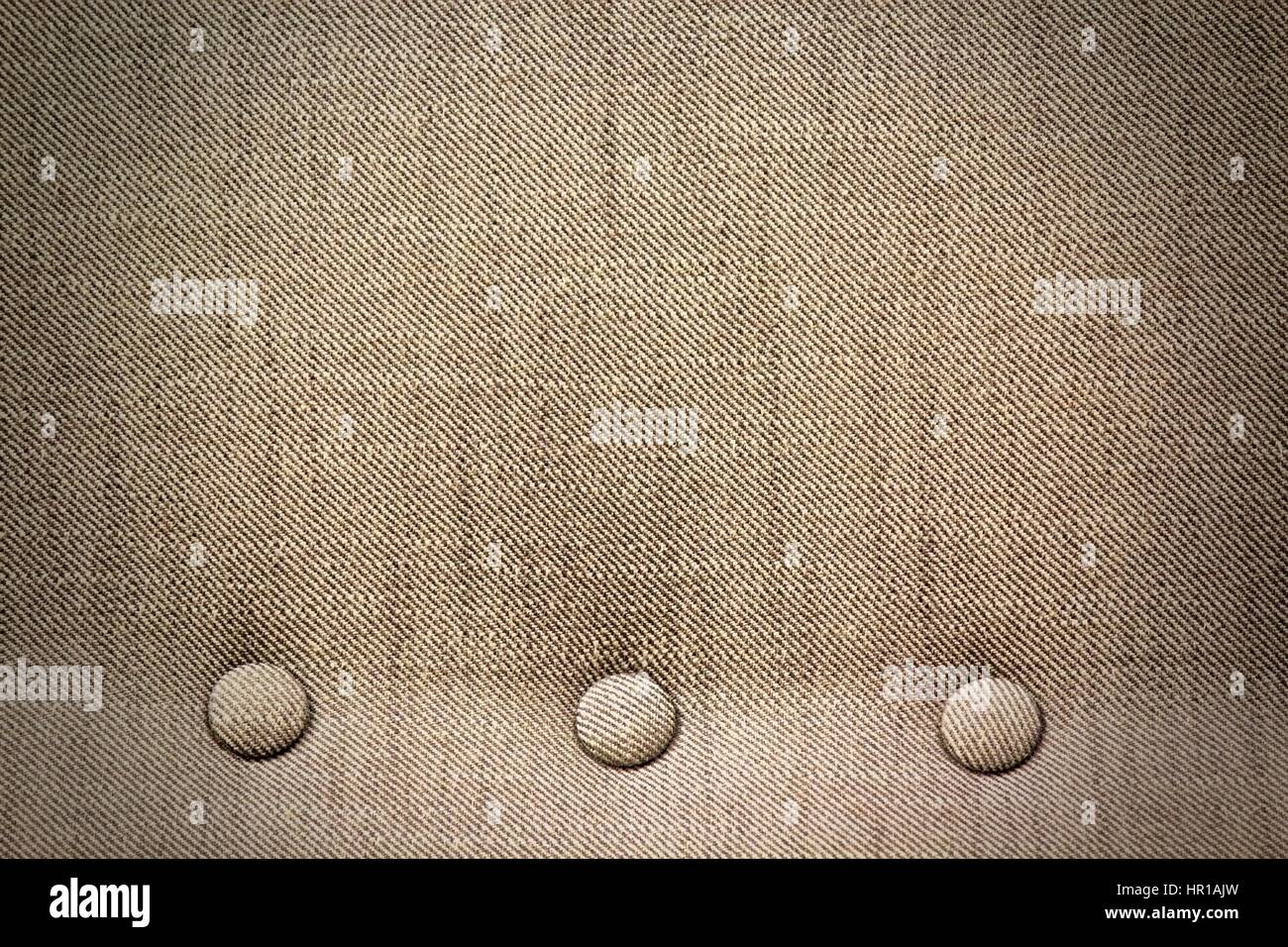 Sofa Fabric Texture Of Sofa Fabric With Button Wallpaper Stock Photo