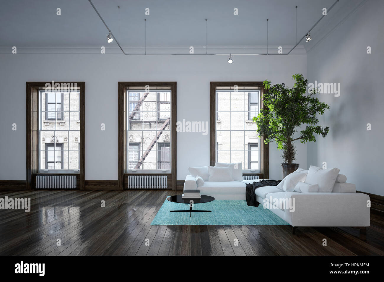Urban Living Room Decor Minimalist Modern Urban Living Room Interior With Black And White