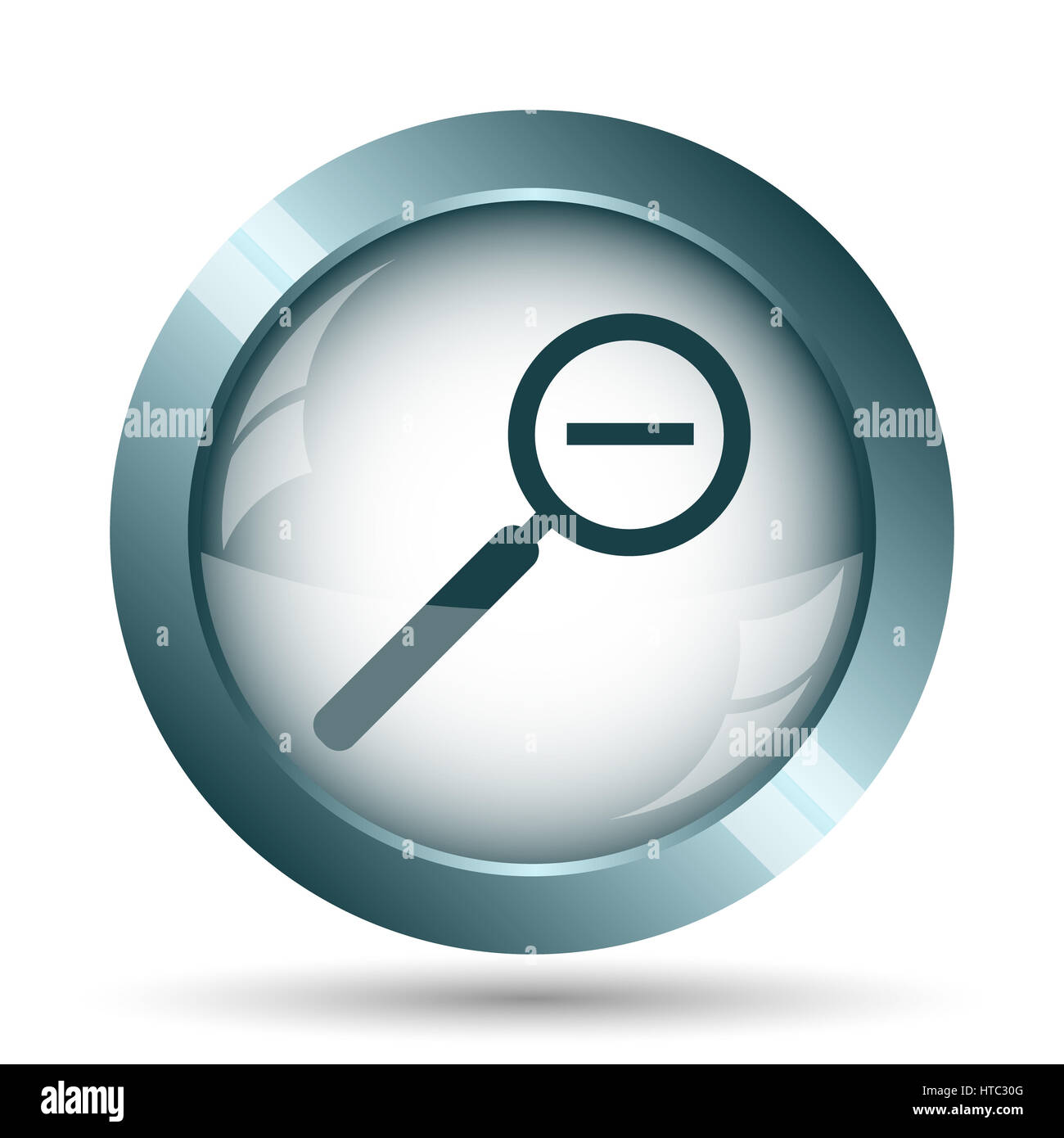 Stock photo zoom out icon internet button on white background