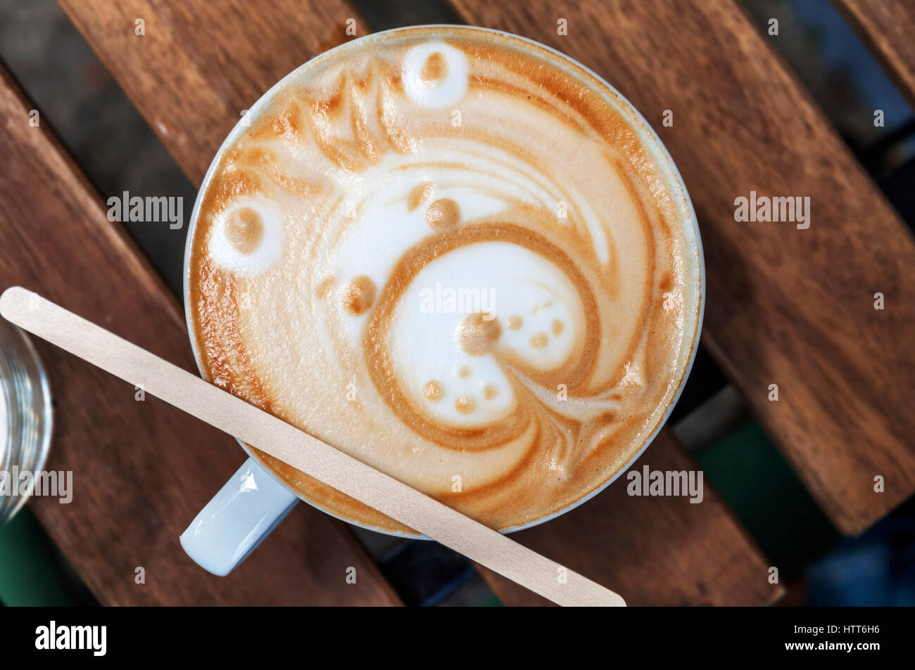 Coffee Art Bear Capuccino Chocolate Stock Photos And Capuccino Chocolate