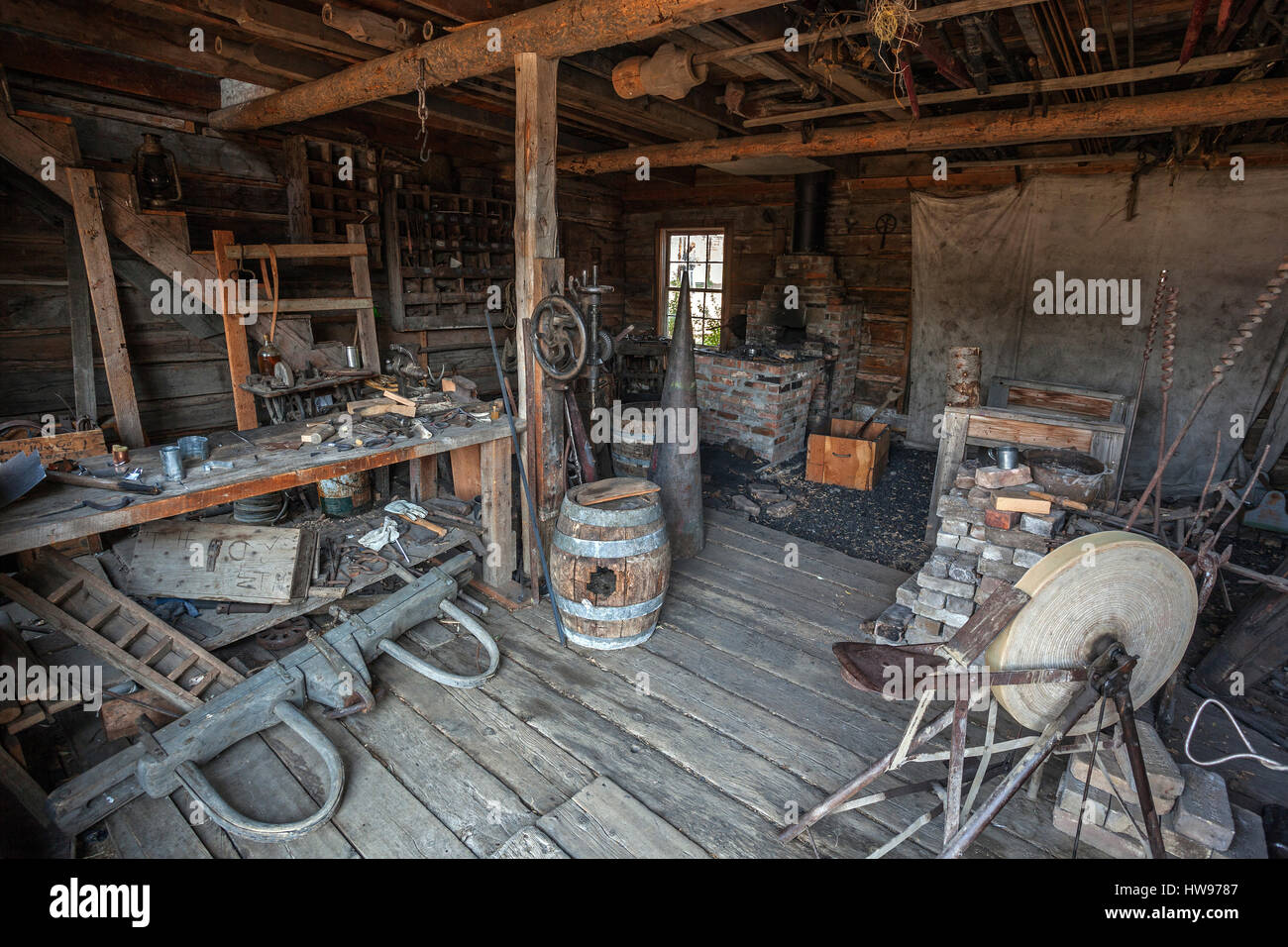 Iron Shop Old Blacksmith Shop Stock Photos Old Blacksmith Shop Stock