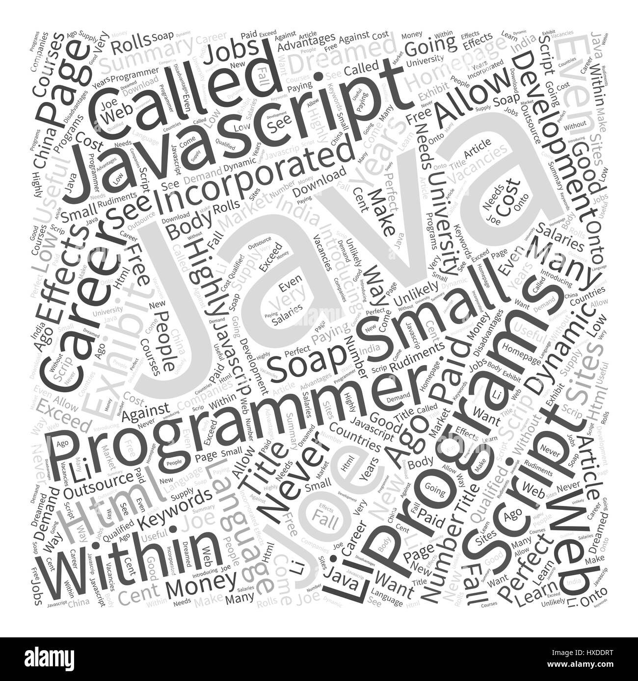 Javascript Cloud Javascript Programmer Is It Your Perfect Career Word Cloud Concept